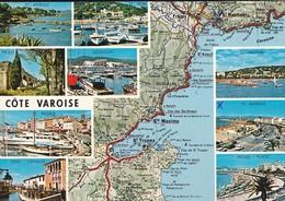 83-----COTE VAROISE--carte Géographique ---( Multivues )---voir 2 Scans - France