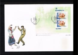 1981 - Europe CEPT FDC Portugal Azoren Mi.Block 2 - Cancel P. Delgada [D17_099] - Europa-CEPT