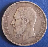 Belgique Pièce De 5 Francs 1873 - 1865-1909: Leopold II