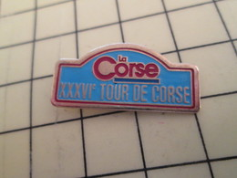 Pin1012b Pin's Pins / Rare Et De Belle Qualité / CORSE RALLYE XXXVIe TOUR DE CORSE Pas Très écolo !! - Rallye