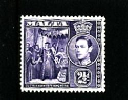 MALTA - 1943   KGVI  2  1/2d  VIOLET  MINT - Malta