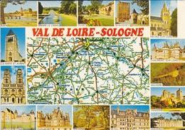 VAL DE LOIRE-SOLOGNE--carte Géographique---( Multivues)---voir 2 Scans - Centre-Val De Loire