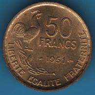 FRANCE 50 FRANCS 1951 Guiraud KM# 918 - France