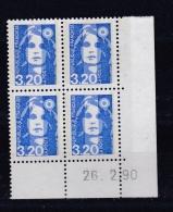 Coin Daté No 2623  Marianne Du Bicentennaire Briat Du 26 02 1990  Neuf XX - 1990-1999