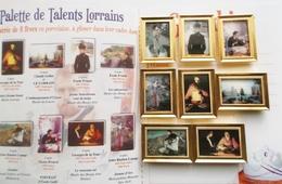 Fèves Publicitaires Perso  Série Complete  Palette Des Talents Lorrains - Other