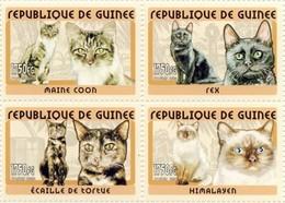Guinea 2002, Animals, Cats, 4val - Guinea (1958-...)