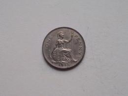 1946 - 1 Penny / KM 845 ( For Grade, Please See Photo ) ! - 1902-1971: Postviktorianische Münzen