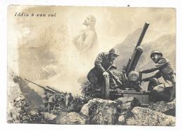 IDDIO E CON VOI 1941 VIAGGIATA FG - Guerra 1939-45
