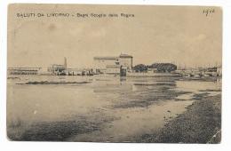 SALUTI DA LIVORNO - BAGNI SCOGLIO DELLA REGINA  VIAGGIATA FP - Livorno