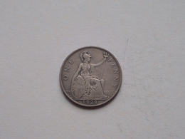 1929 - 1 Penny / KM 838 ( For Grade, Please See Photo ) ! - 1902-1971: Postviktorianische Münzen