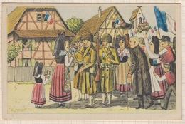 8AK776 Illustrateur LE GLORIEUX RETOUR DE LA FRANCE   2 SCANS - Patriotic