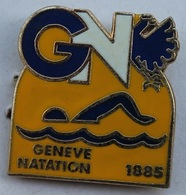 GENEVE NATATION - GN - NAGEUR - 1885 - SUISSE - SWISS  -          (ROSE) - Swimming
