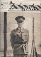 Zondagsvriend 28 11 1945, Speciaal Nummer Koning Leopold III In Ballingschap, 16 Blz Foto's + Uitleg, Originele Publicat - Antique