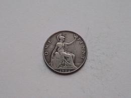1904 - 1 Penny / KM 794.2 ( For Grade, Please See Photo ) ! - 1902-1971: Postviktorianische Münzen