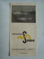 HAVENRONDVAARTEN SPIDO HAVENDIENST SPIDO. ROTTERDAM - HOLLAND, 1950 APROX. - Dépliants Touristiques