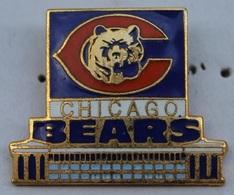 FOOTBALL AMERICAIN - CHICAGO BEARS - OURS - BÄR -  (ROSE) - Badges
