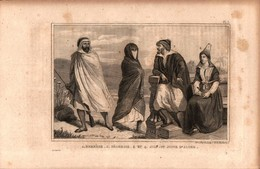 Algérie - Berbère - Négresse - Juif Et Juive D'Alger - Estampes & Gravures