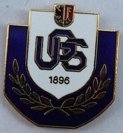 URIANA GENEVE SPORTS - UGS 1896  - CLUB DE FOOTBALL - GENEVE - FOOT - LAURIERS - BORD VIOLET - SOCCER -   (ROSE) - Football