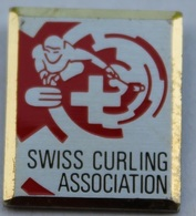 SWISS CURLING ASSOCIATION - SUISSE - SCHWEIZ - PIERRE  -   (ROSE) - Badges