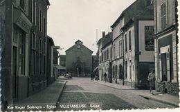 VILLETANEUSE (Seine) -- RUE  ROGER  SALENGRO -- EGLISE         Carte Glacée 9X14 - Villetaneuse