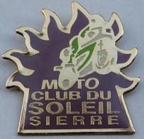MOTO CLUB DU SOLEIL - SIERRE - CANTON DU VALAIS - SUISSE - WALLIS - SWISS -   (ROSE) - Motorbikes