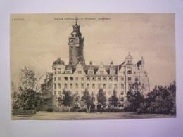LEIPZIG  :   Neues  RATHAUS D. Weststr. Gesehen    - Leipzig