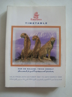 EMIRATES TIMETABLE. DAR ES SALAAM. TWICE WEEKLY - UNITED ARAB EMIRATES, 1997. 210 PAGES. - Timetables