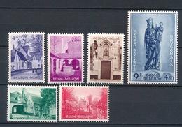 Belgique 1954 - 946 / 951 - 2 SCANS POSTFRIS - Unused Stamps