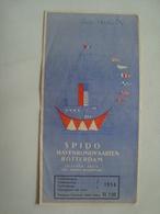 SPIDO HAVENRONDVAARTEN ROTTERDAM - HOLLAND, NETHERLANDS, 1956. - Dépliants Touristiques