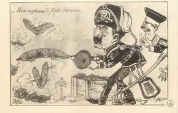 -guerre 1914-18 -ref M180- Illustrateurs - Illustrateur Muller - Guillaume 2 Le Kaiser Et Zeppelin - Zeppelins - - War 1914-18