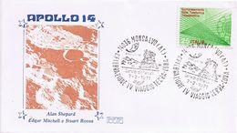 Busta  Celebrazione IV Viaggio Terra-Luna - Apollo 14 - Moncalvo - Annullo Dedicato - Ruimtevaart