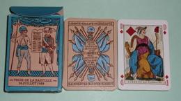 Jeu Cartes Révolution 1789, 1793 Réédition D'après L'original De La Bibliothèque Nationale De Paris, Variété Dos Bleu - Group Games, Parlour Games