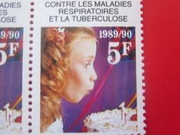 1989/90 Vignette MNH BLOC DE 6 VIGNETTES BDF NEUF**ANTITUBERCULEUX ANTI TUBERCULOSE Label Sticker-Aufkleber-Bollo-Viñeta - Tegen Tuberculose