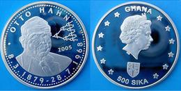 GHANA 500 S 2005 ARGENTO PROOF SILVER OTTO HAHN INVENTOR MOLECOLAR DISCOVERY PESO 20g TITOLO 0,925 CONSERVAZIONE FONDO S - Ghana