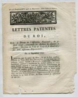 Lettre Patentes Du Roi 1790 - Concernant Les Ateliers De Secours à Former (Voir état) - Décrets & Lois