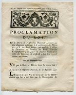 Proclamation Du Roi 1790 - - Décrets & Lois