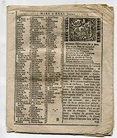Calendrier 18e S. Avec Illustrations Et évenements Et Observations Pour Chaque Mois (incomplet) - Calendars