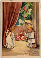 BUON NATALE - BAMBINI CON REGALI - 1957 - Santa Claus