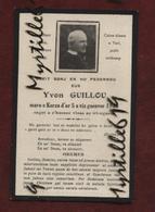 Faire-part De Décès - (1925) Memento Yvon Guillou - Ecrit En Breton - Obituary Notices