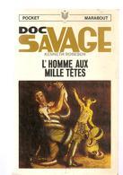 Science Fiction DOC SAVAGE L'homme Aux Mille Tête N°10 Par KENNETH ROBESON POCKET MARABOUT De 1967 - Marabout SF
