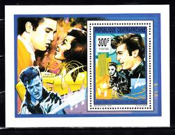 Centraal-Afrika 1993 Mi Nr Blok 532,  Elvis Presley, Love Me Tender, Gitaar - Centraal-Afrikaanse Republiek