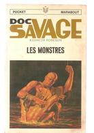 Science Fiction DOC SAVAGE Les Monstres N°42 Par KENNETH ROBESON POCKET MARABOUT De 1968 - Marabout SF