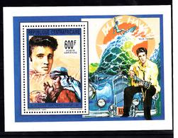Centraal-Afrika 1993 Mi Nr Blok 534,  Elvis Presley,  Harem Scarum, Car, Auto, Blue Hawai - Centraal-Afrikaanse Republiek