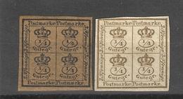 Allemagne - Brunswick- Duché (1857)  N °16/17non Dentelé - Braunschweig