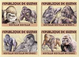 Guinea 2002, Animals, Gorillas, 4val - Guinea (1958-...)