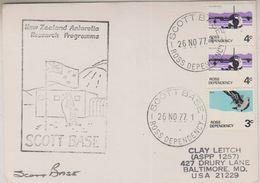 Ross Dependency 1977 Scott Base Ca 26 No 77  Card (38535) - Ross Dependency (Nieuw-Zeeland)