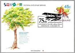 75th Anniv. FIRST AIRMAIL SERVICE. Dargaville NZ 1994 - Correo Postal