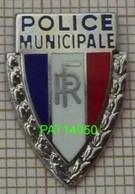 POLICE MUNICIPALE  RF  République Française En Version ZAMAC Métallisé - Police
