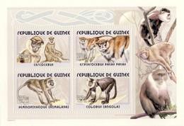 Guinea 2002, Animals, Monkeys, 4val In BF - Guinea (1958-...)