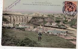 ISSY-LES-MOULINEAUX PANORAMA SUR MEUDON ET LE VAL PRES DU MUSEE DE RODIN PASSAGE DU TRAIN  (CARTE COLORISEE) - Issy Les Moulineaux